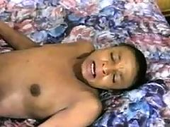 Ebony mom gets facial