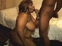 African babe riding huge white cock